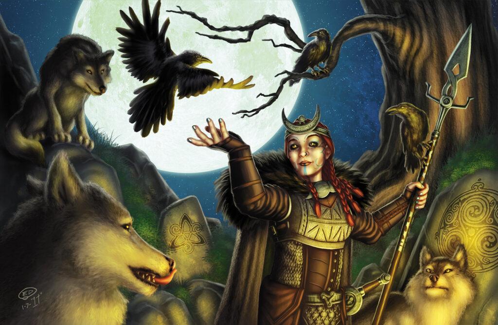 Deusa Morrigan. Fonte: https://www.artstation.com/artwork/rexoG