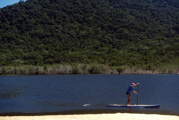 Remada de SUP na lagoa da Praia da Lagoa