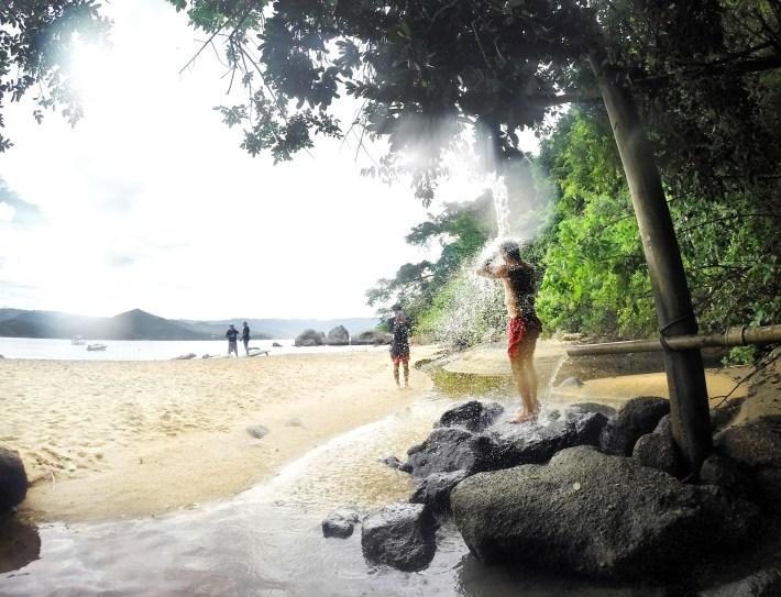 Bica de água doce na Praia de Fora