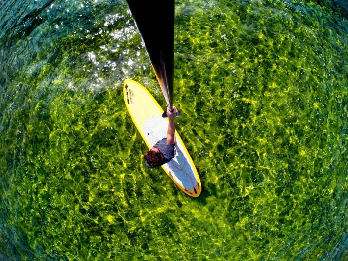 Com o sol, a Lagoa da Conceição ganhou novas cores