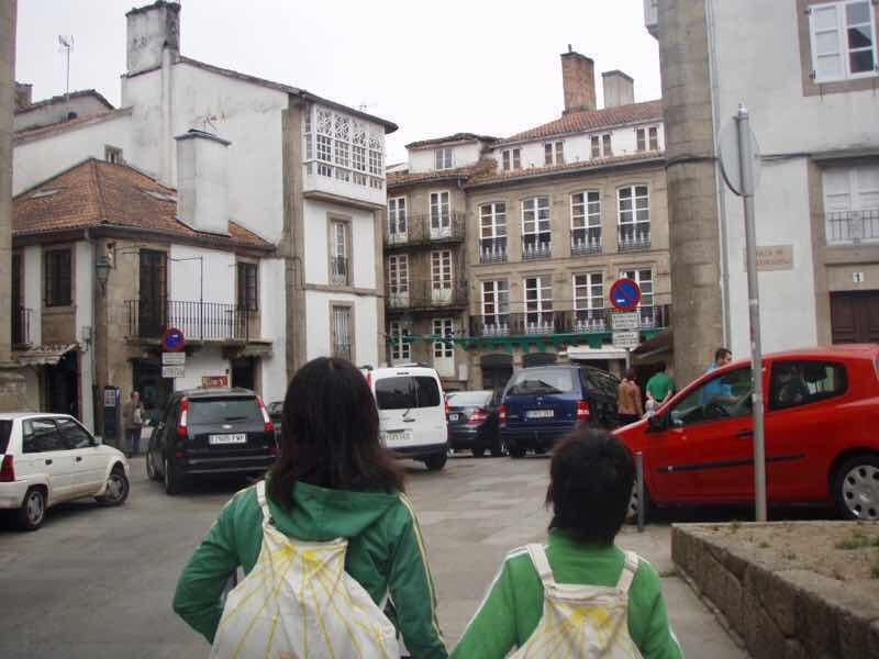 605スペイン巡礼 ホタテリュック サンティアゴ 探索12Santiago 街