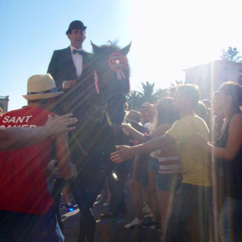623メノルカ島 サン•フアン 馬祭り Menorca 馬と群衆