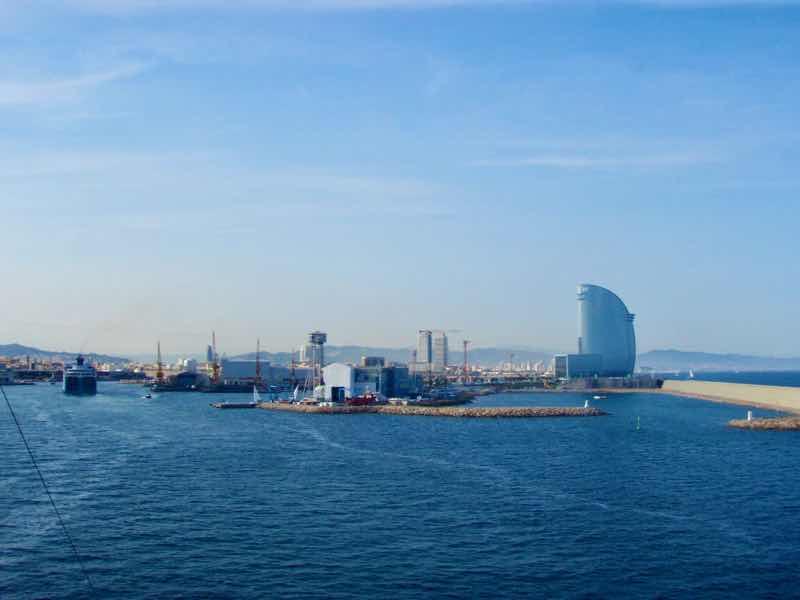 H623メノルカ島 Menorca〜バルセロナ船上見える景色