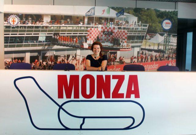 Sala de prensa del circuito de Monza