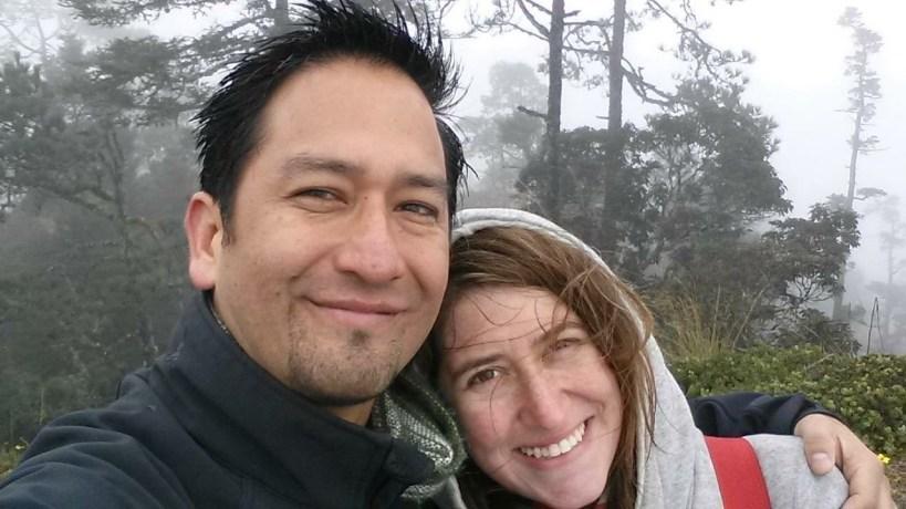 Enrique y yo en Sierra Juarez