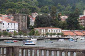 Pontedeume bridge and Torre dos Andrades