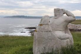 A very suspicious statue! (iconograph interpretation please?)