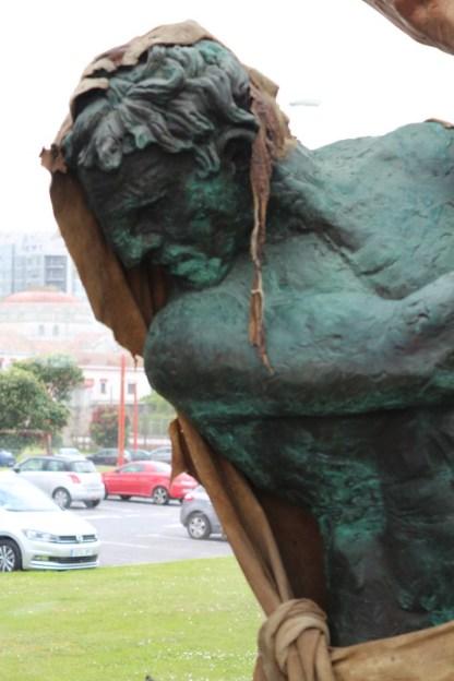 Hércoles statue in the Info pavilion