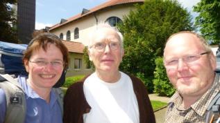 Foto mit Pfarrer Christoph Vogel