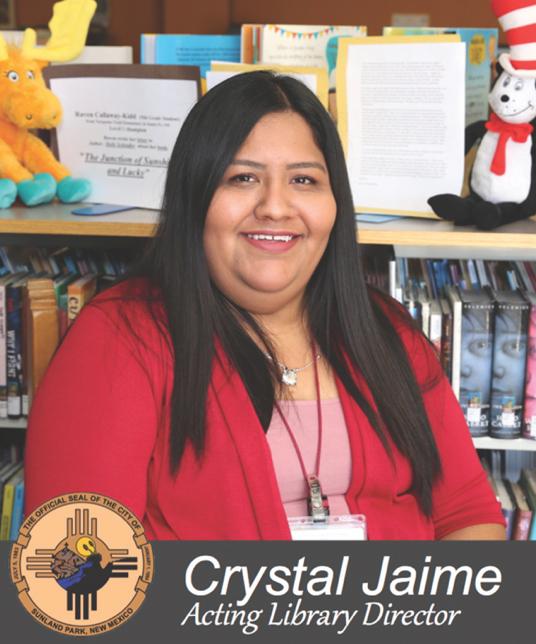 Mensaje de Crystal Jaime – Directora de la biblioteca