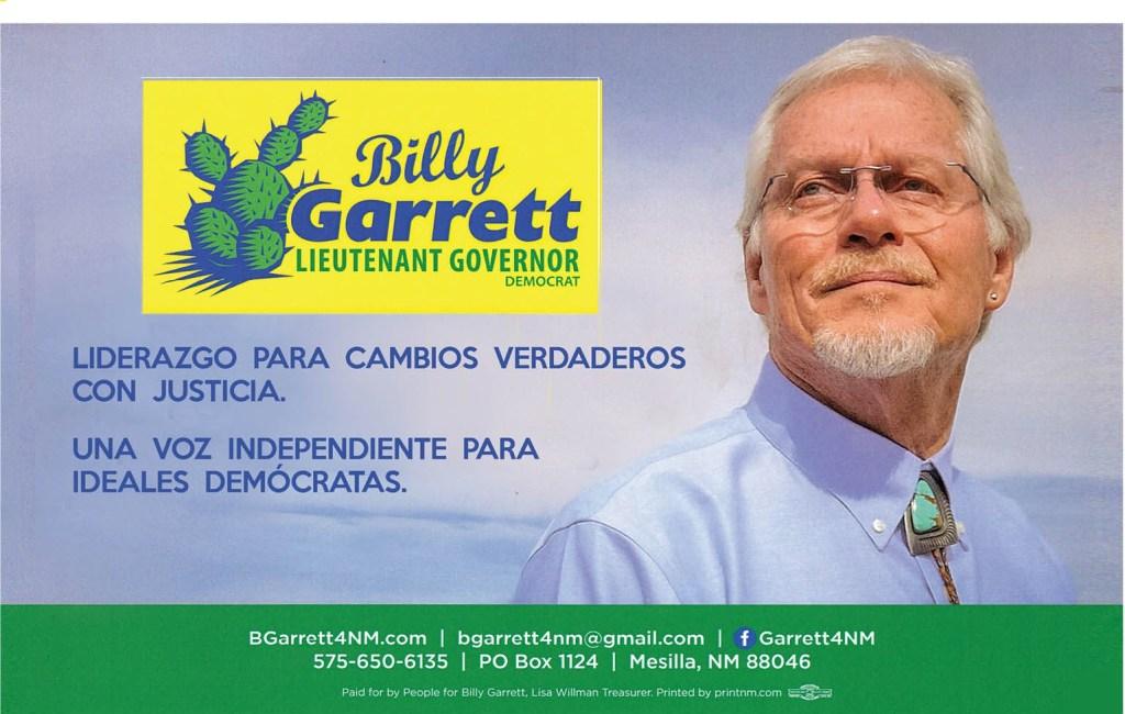 Billy Garrett para Vicegobernador