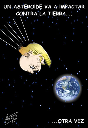 Un asteroide va a impactar contra la tierra