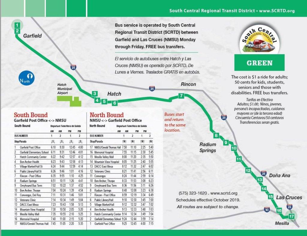 Nueva ruta de autobús conecta Garfield con Las Cruces