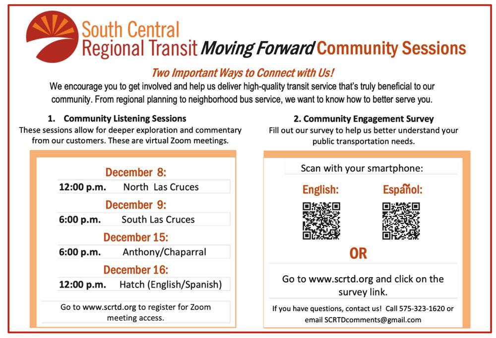 Encuesta de SCRTD sobre plan de transporte