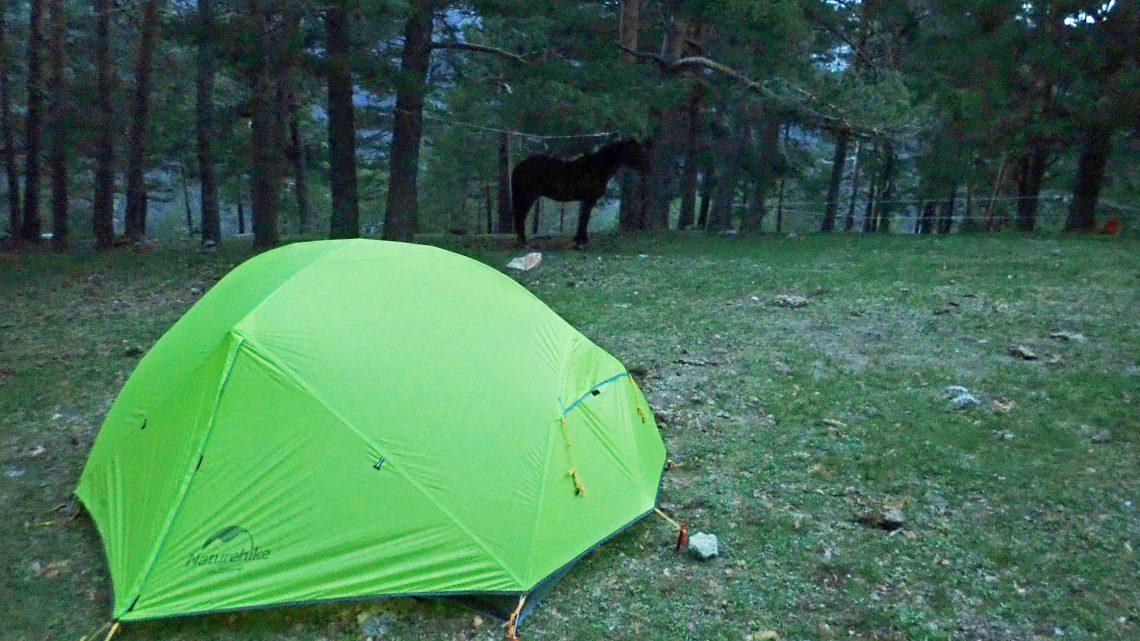 Acampando en ruta con el caballo (1)