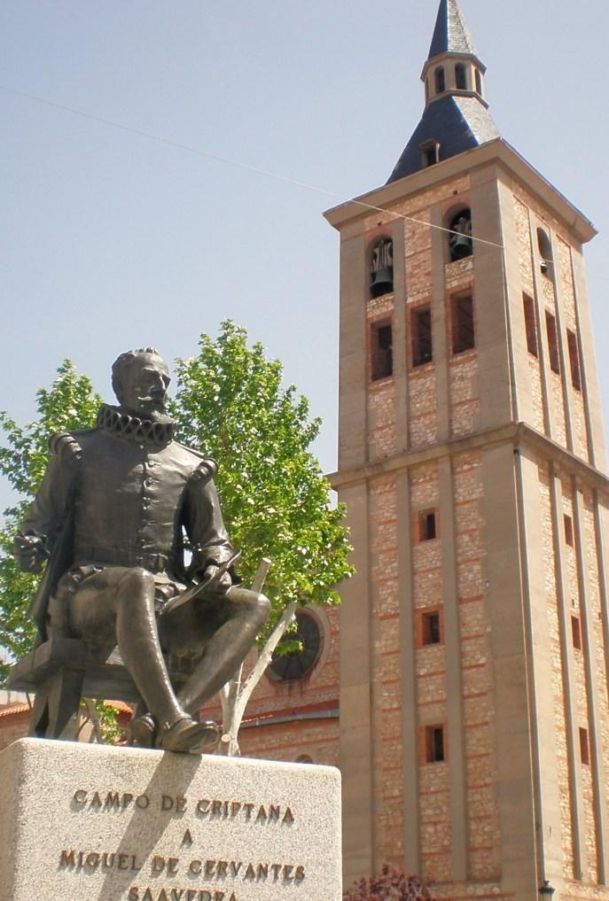 Campo de Criptana: Monumento a Cervantes e Iglesia Parroquial
