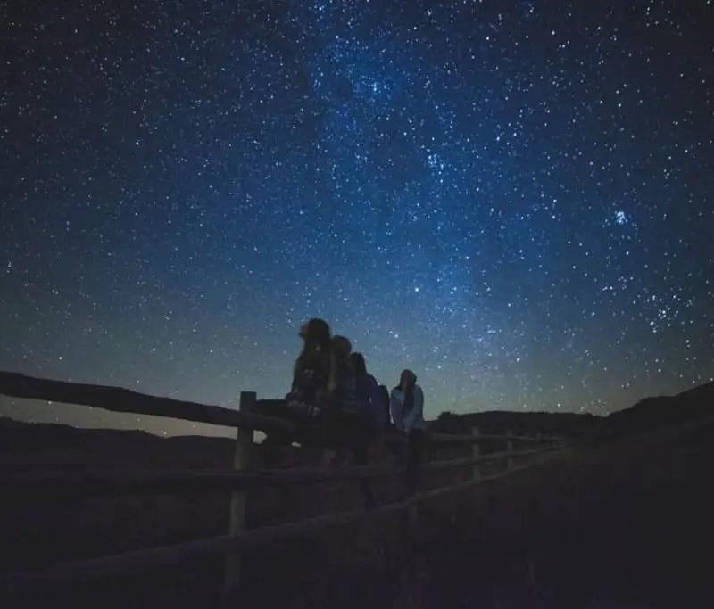 observando las estrellas