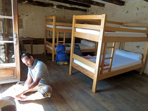Our room in the city walls of St Come d'Holt, probably my favorite place in France