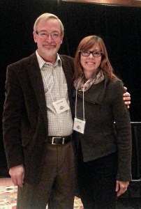 Dr. Steve Savage and me at Nutrition File Seminar, February 2014.