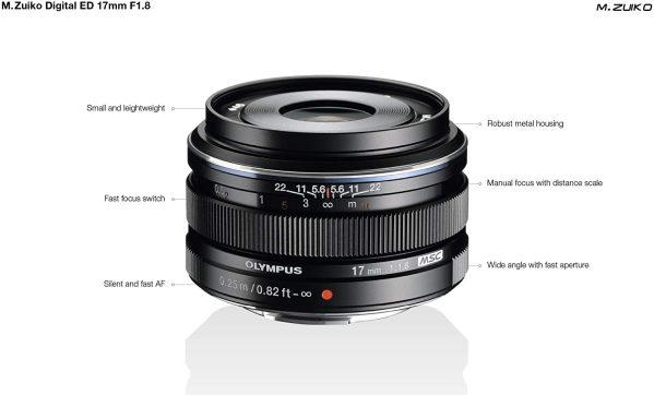 Olympus M.Zuiko Digital 17mm f/1.8 Lens