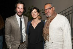 Keanu Reeves, Carrie-Anne Moss and Laurence Fishburne attend the after party for the premiere of 'John Wick: Chapter Two' 2017