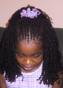 Child with locs