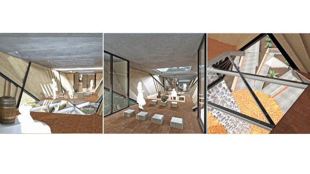 Renders interiores casa agave