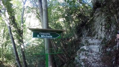 Indicazione chiesetta S.Michele