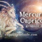 GENNAIO 2018-MERCURIO IN CAPRICORNO : L'INDIPENDENZA DI UN FIGLIO di Rossana Strika