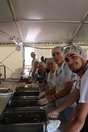 Momenti di servizio a Ventimiglia con i migranti