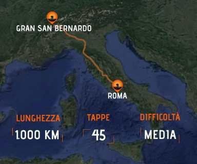 Mappa Via Francigena