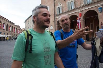 Cammino Terre Mutate Tappa 1 Fabriano Matelica Sindaco di fabriano e Paolo piacentini