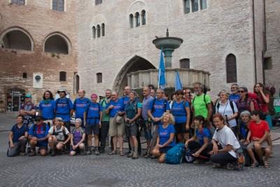 Cammino Terre Mutate Tappa 1 Fabriano Matelica la partenza della lunga marcia 2017