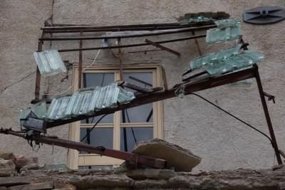 Cammino Terre Mutate Tappa 3 Camerino Fiastra tetti crollati
