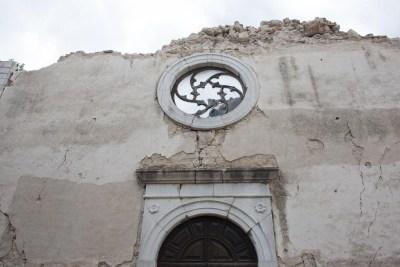 Cammino Terre Mutate Tappa 5 Ussita-Visso-Campi di norcia chiesa distrutta