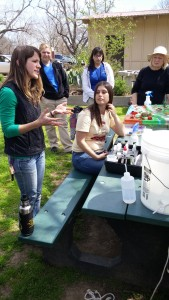 CAMN students learn about hydrology at the Meadows Center. Photo by Virginia Palacios,
