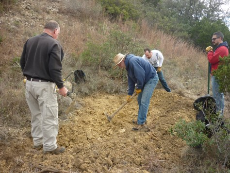 Digging a rainwater retention pond