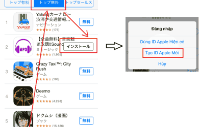Hướng dẫn đăng ký tài khoản itune Nhật Bản