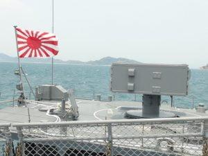 Cờ Hải quân Nhật Bản tung bay trên vịnh Cam Ranh, tỉnh Khánh Hòa