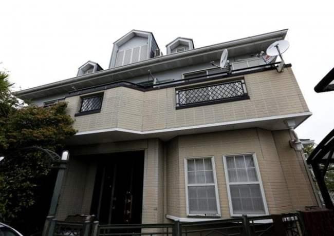 Quang cảnh bên ngoài ngôi nhà của ông Seiichiro Nishimoto ở Osaka.