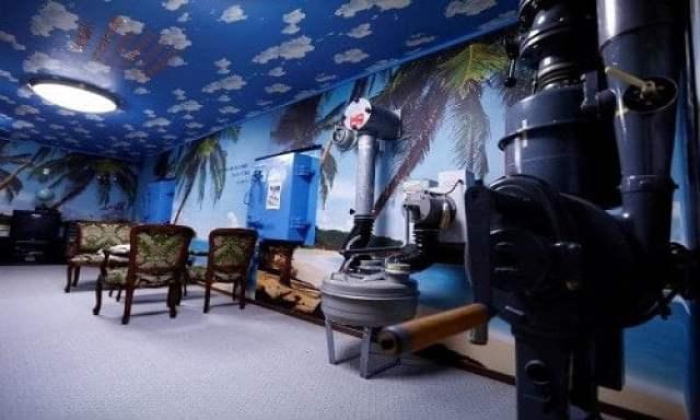 Có thể thấy, không gian bên trong phòng trú ẩn hạt nhân này khá rộng rãi.