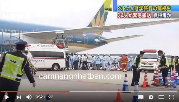 34 học sinh Nhật Bản từ Việt Nam về Nhật phải đi cấp cứu vì ngộ độc thực phẩm