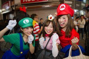 Halloween ở Shibuya Tokyo Nhật Bản khong gianh cho nguoi yeu tim