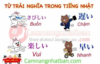 Những từ trái nghĩa trong tiếng Nhật