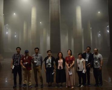 10 nhà báo của ASEAN đến thăm và tìm hiểu về hệ thống thoát nước ngầm (Metropolitan Area Outer Underground Discharge Channel). Ảnh: Quốc Huy/BNEWS/TTXVN