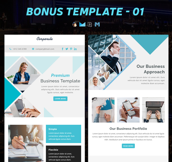 Email is an essential way of communicating in sales. Corporate Responsive Email Newsletter Templates With Online Stampready Mailchimp Builders Access By Pennyblack