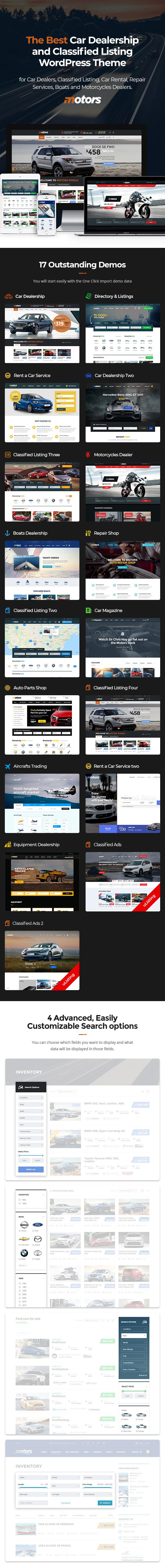 medium resolution of motors automotive car dealership car rental auto classified ads listing wordpress theme