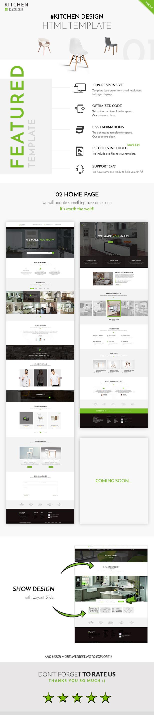 kitchen design template undermount single bowl sink html responsive by qtcmedia themeforest