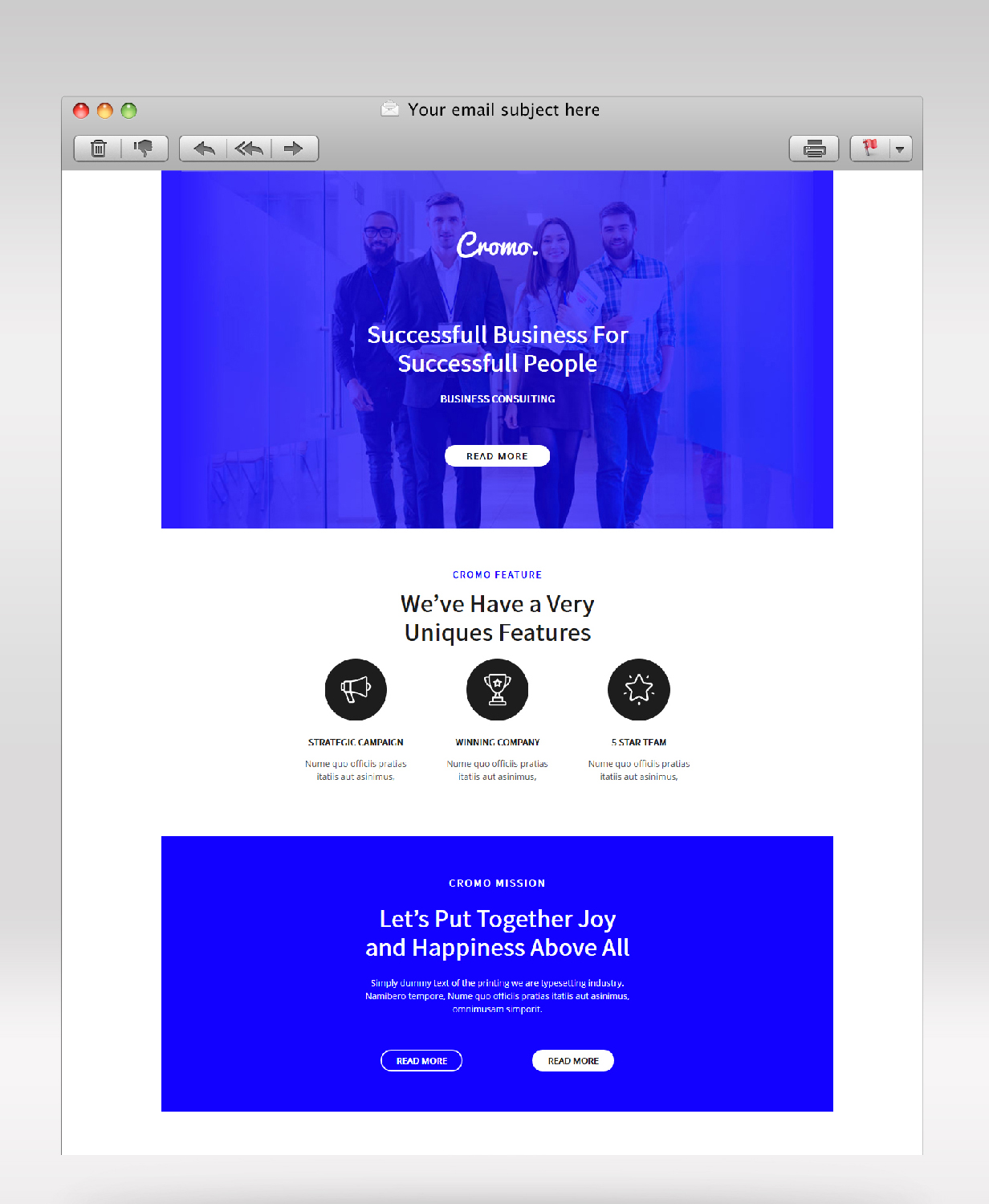 It contains 1 email template, 8 matching notification newsletter templates and 1 newsletter all element template. Cromo Corporate Email Newsletter Template By Giantdesign Themeforest