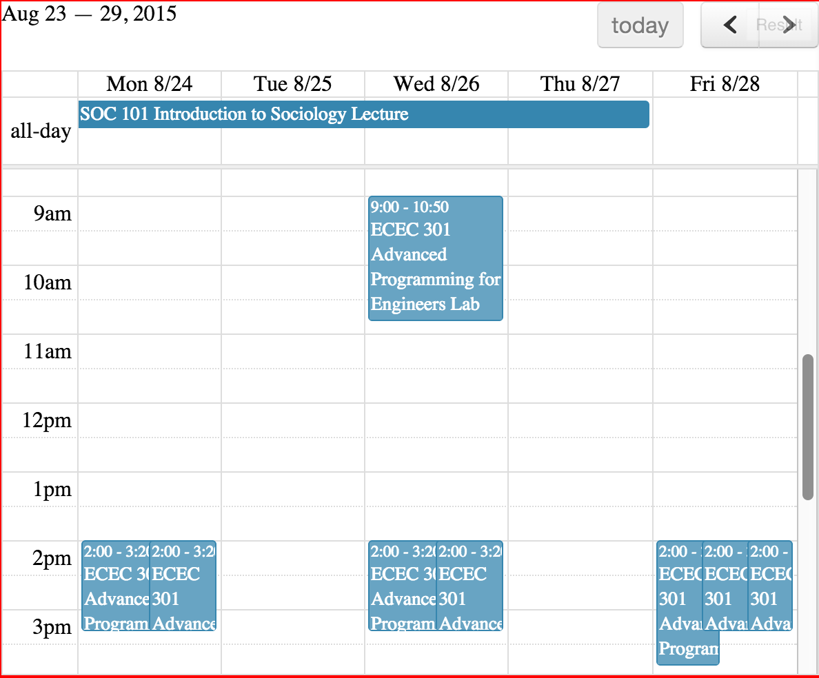 Fullcalendar Datepicker